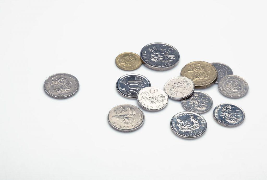 ちらばったコイン